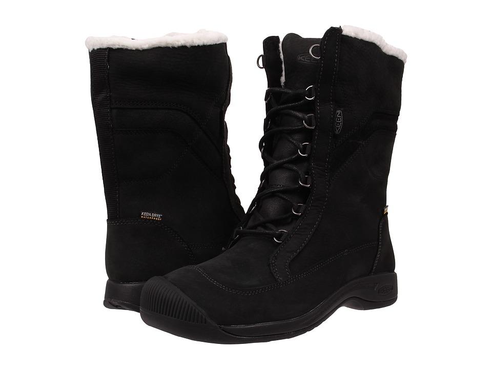 Keen - Reisen Winter Lace WP (Black) Women's Waterproof Boots