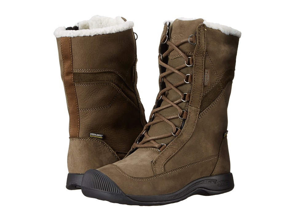 Keen - Reisen Winter Lace WP (Cascade Brown) Women's Waterproof Boots