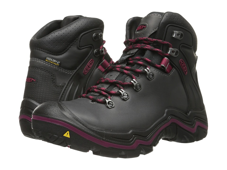 Keen - Liberty Ridge (Gargoyle/Beet Red) Women's Waterproof Boots