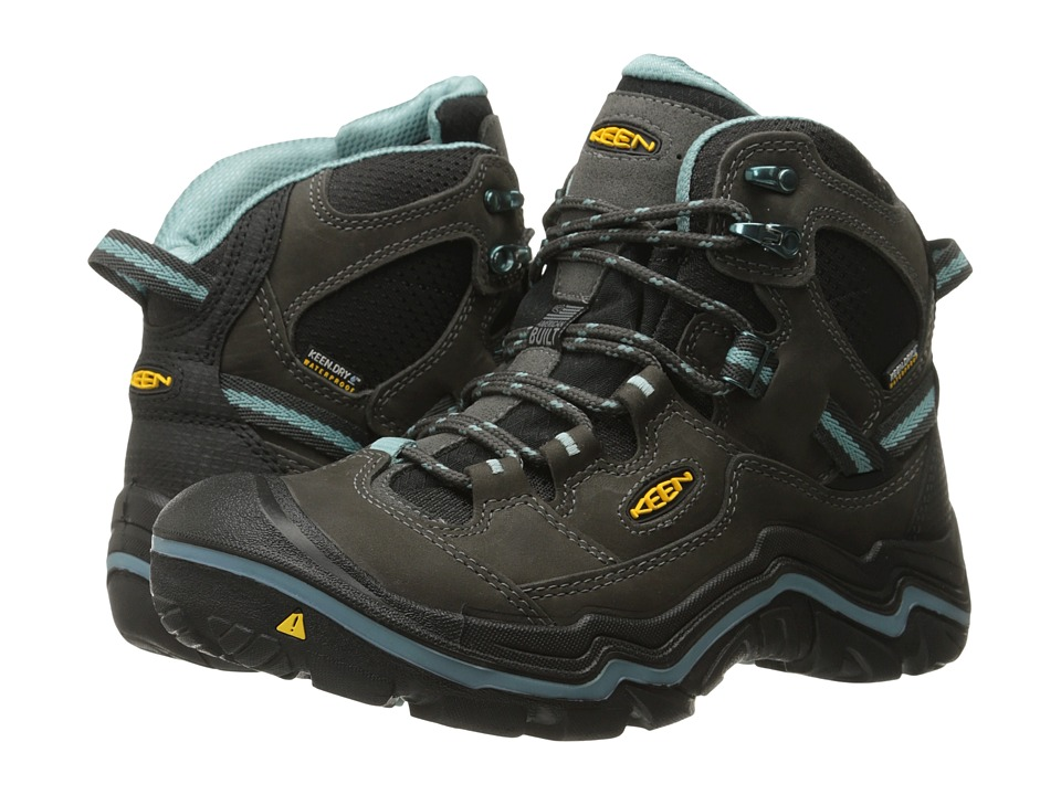Keen - Durand Mid WP (Raven/Mineral Blue) Women's Hiking Boots