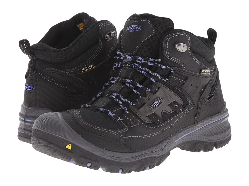 Keen - Logan Mid (Black/Periwinkle) Women's Waterproof Boots