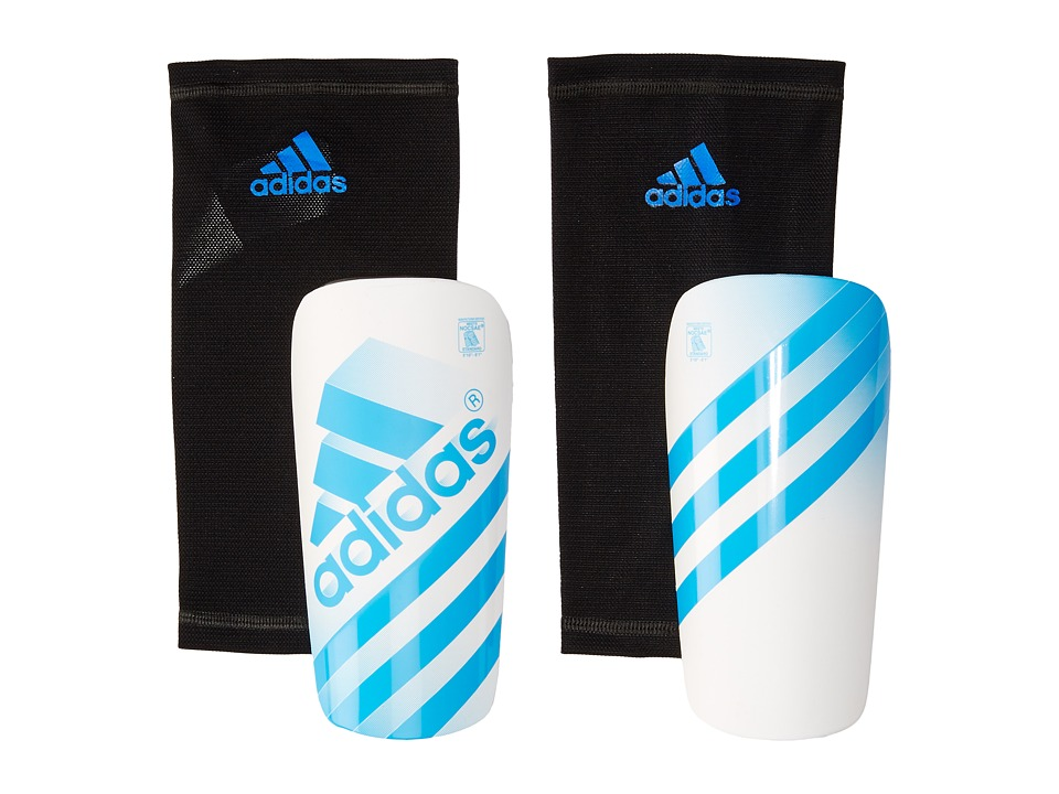adidas - Ghost Guard (White/Solar Blue2) Athletic Sports Equipment