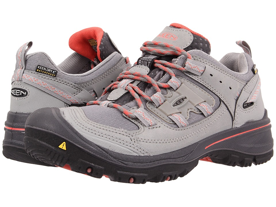 Keen Logan (Neutral Grey/Hot Coral) Women