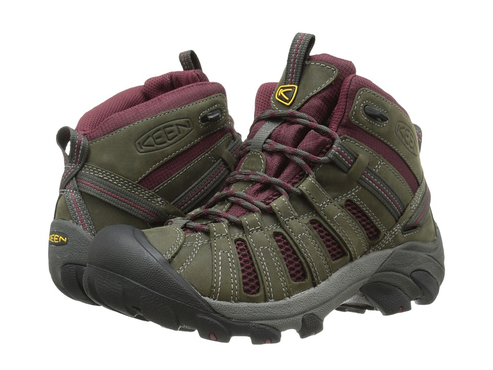 Keen - Voyageur Mid (Raven/Zinfandel) Women's Hiking Boots