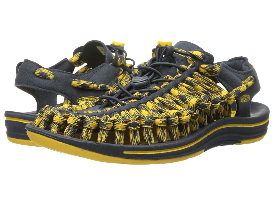 Keen - Uneek 8 mm (Midnight Navy/Spectra Yellow) Men's Sandals