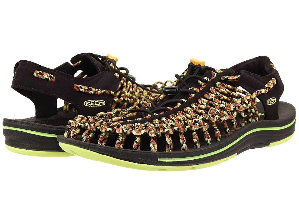 Keen - Uneek (Black/Green Glow) Men's Shoes