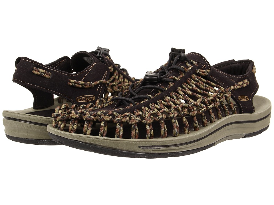 Keen - Uneek (Black/Burnt Olive) Men's Shoes