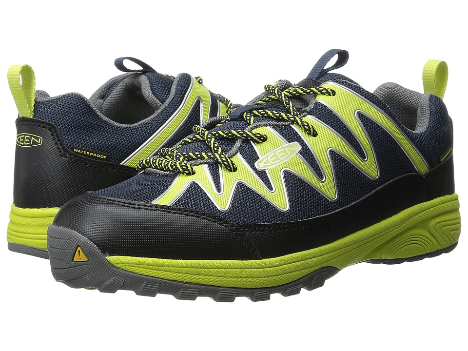 Keen Kids - Rendezvous WP (Little Kid/Big Kid) (Dress Blues/Bright Chartreuse) Boys Shoes