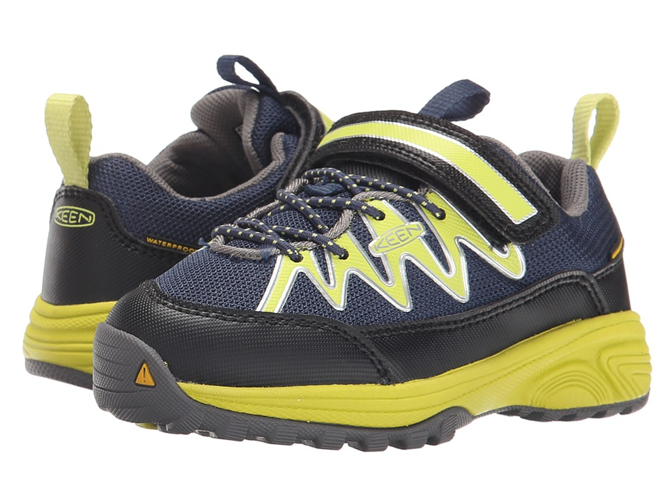 Keen Kids - Rendezvous WP (Toddler/Little Kid) (Dress Blues/Bright Chartreuse) Boys Shoes