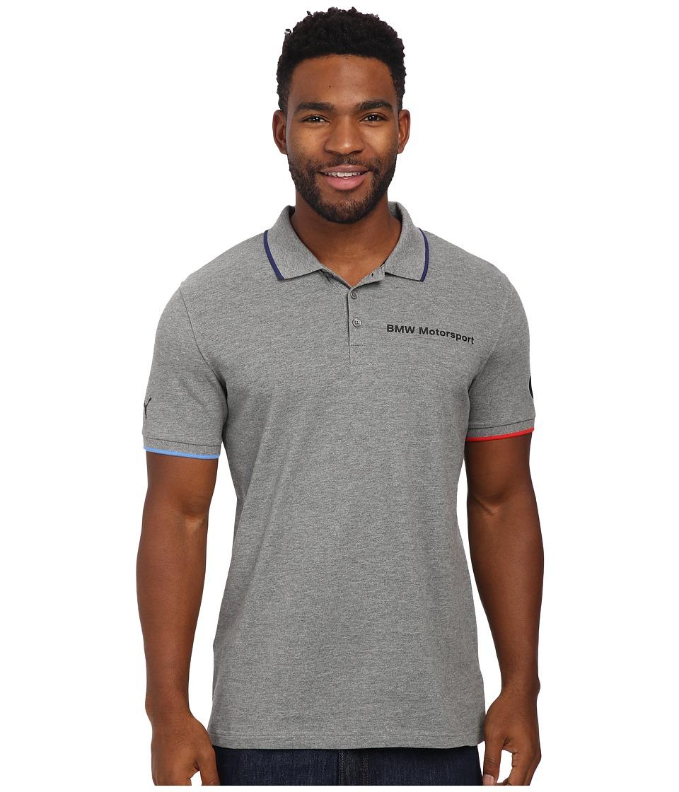 PUMA - Bmw Msp Polo (Medium Gray Heather) Men's Short Sleeve Pullover