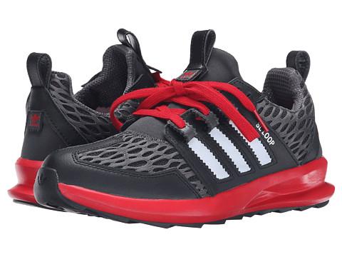 adidas Originals - SL Loop Runner - Mesh (Black/Silver Metallic/Scarlet) Men