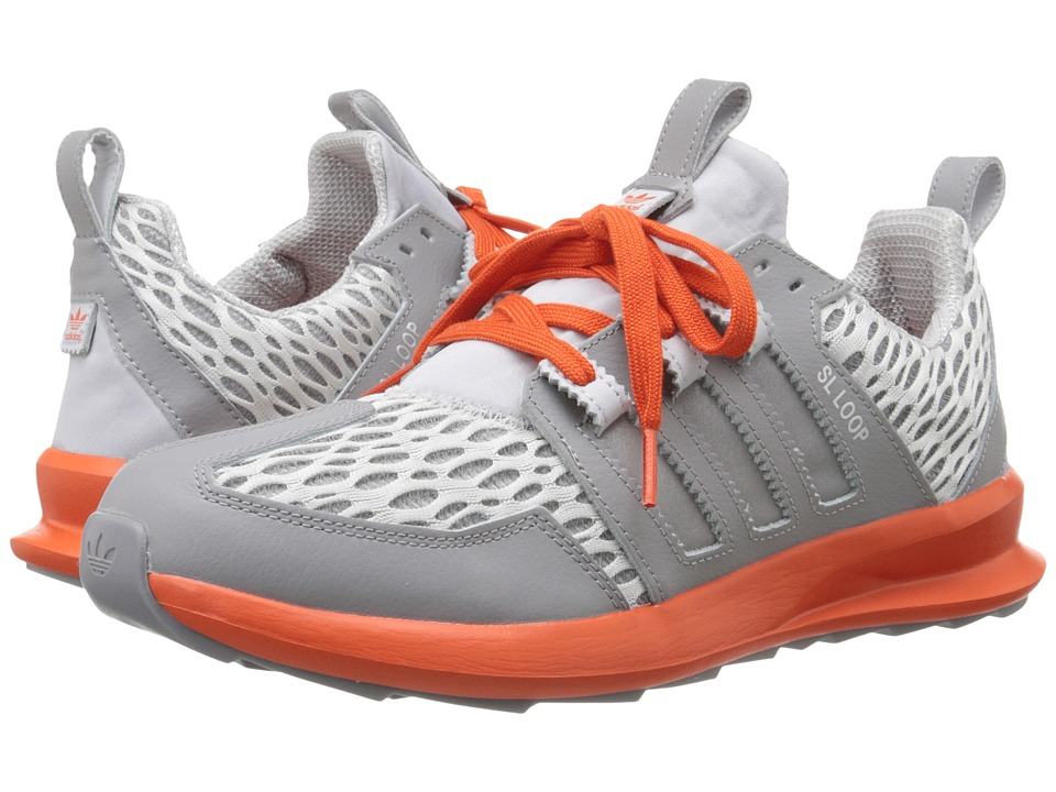 adidas Originals - SL Loop Runner - Mesh (Charcoal Solid Grey/Silver Metallic/Collegiate Orange) Men's Classic Shoes