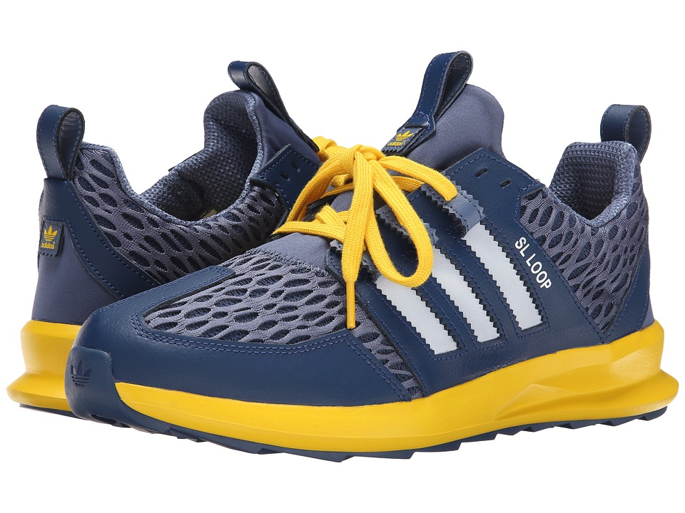 adidas Originals - SL Loop Runner - Mesh (Oxford Blue/Silver Metallic/Super Yellow) Men's Classic Shoes