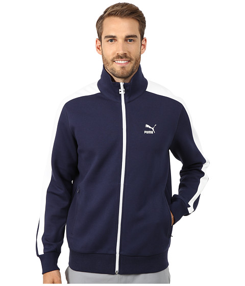 PUMA - T7 Track Jacket (Peacoat) Men's Coat