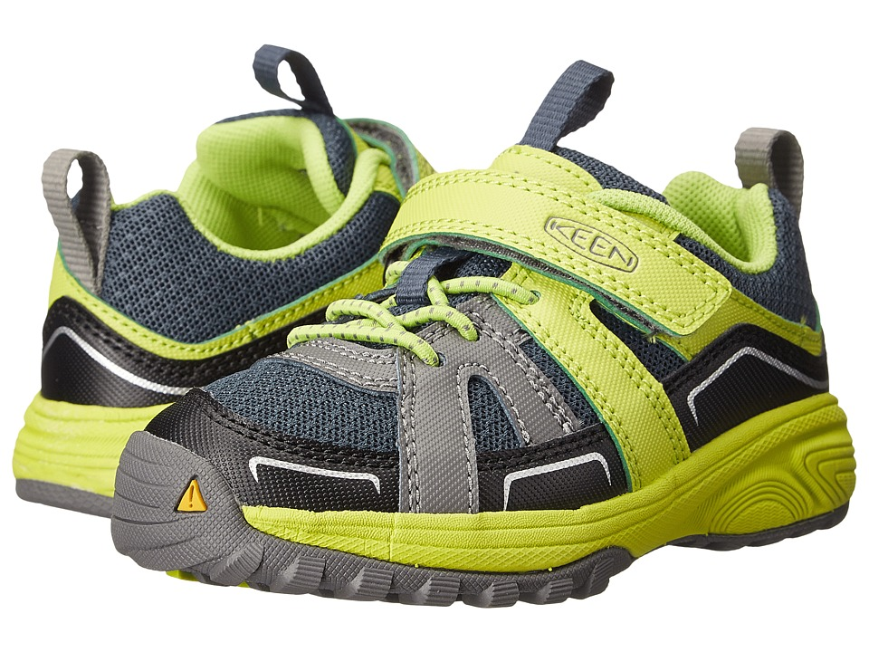 Keen Kids - Lookout (Toddler/Little Kid) (Midnight Navy/Green Glow) Boys Shoes
