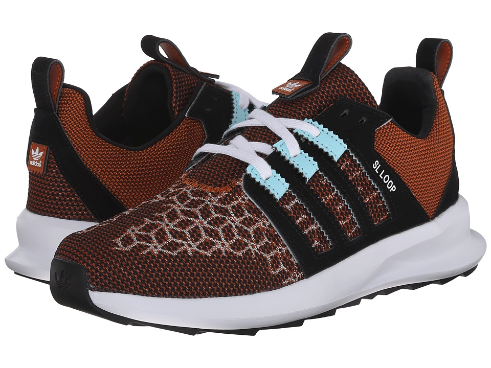adidas Originals - SL Loop Runner - Weave (Fox Red/Clear Aqua/Black) Men's Classic Shoes