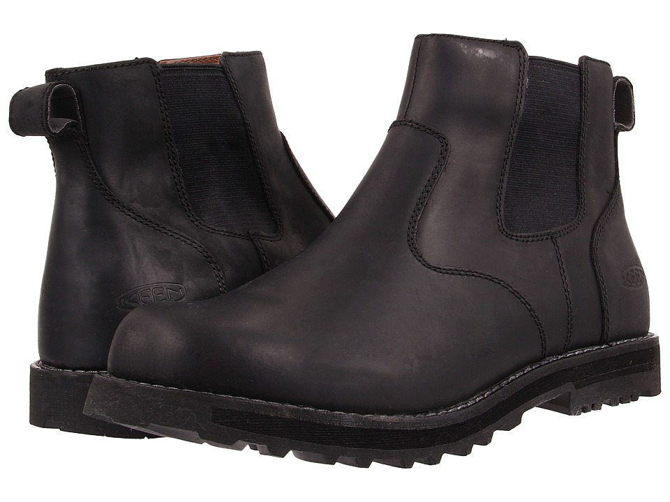 Keen - Tyretread Chelsea WP (Black) Men's Pull-on Boots
