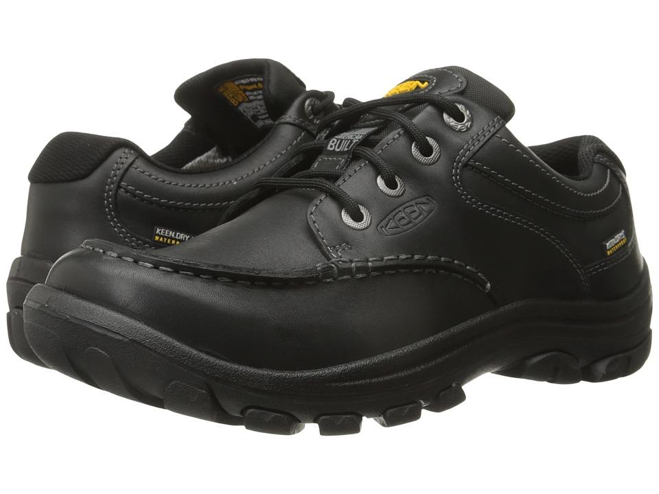Keen - Anchor Park Low WP (Black) Men's Lace up casual Shoes