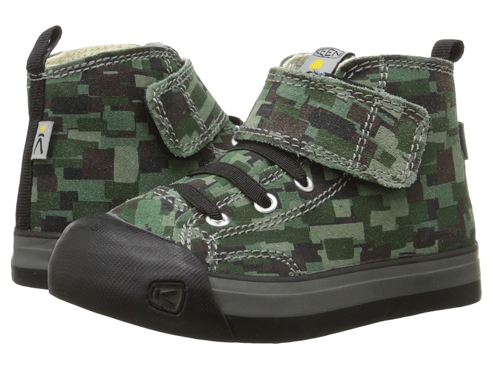 Keen Kids - Coronado High Top Leather (Toddler/Little Kid) (Digital Camo/Black) Kid's Shoes