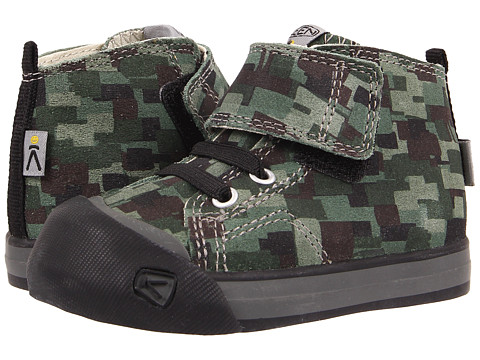 Keen Kids - Coronado High Top Leather (Toddler) (Digital Camo/Black) Kid's Shoes