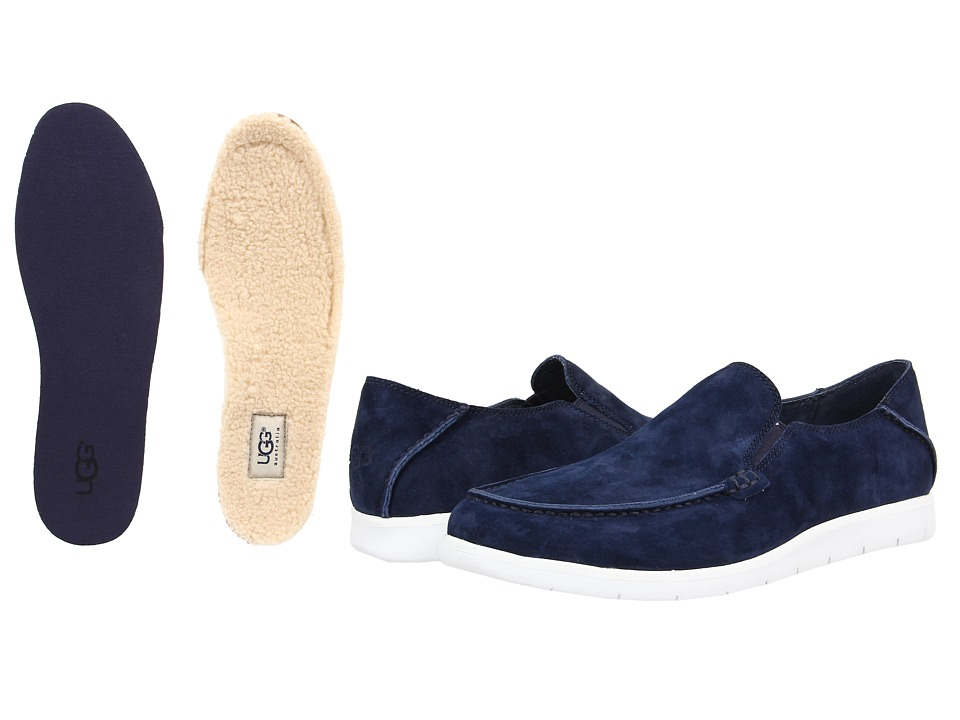 UGG - Colston (New Navy Suede) Men's Slip on Shoes