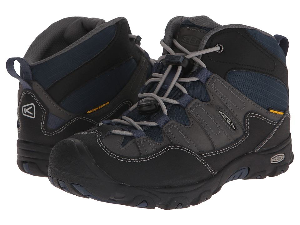 Keen Kids - Pagosa Mid WP (Little Kid/Big Kid) (Magnet/Midnight Navy) Boys Shoes