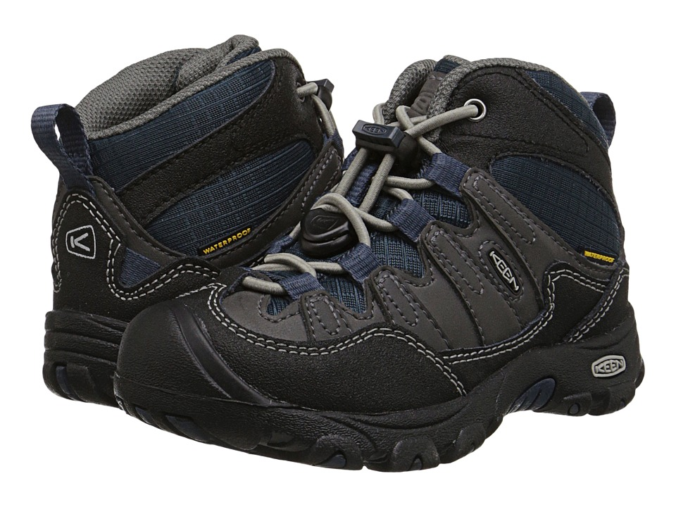 Keen Kids - Pagosa Mid WP (Toddler/Little Kid) (Magnet/Midnight Navy) Boys Shoes