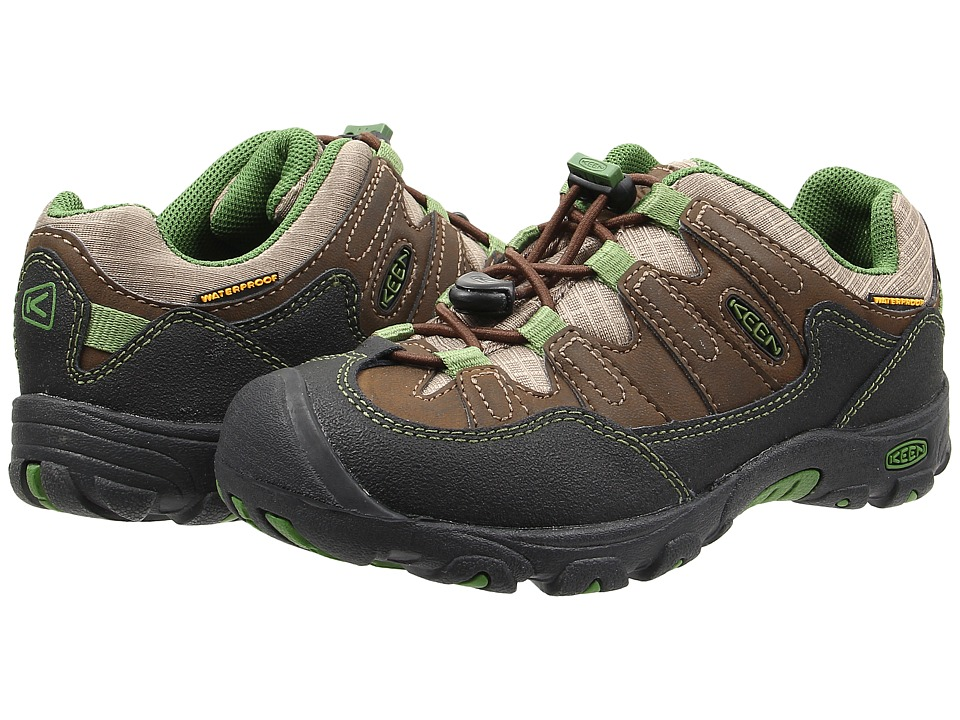 Keen Kids - Pagosa Low WP (Little Kid/Big Kid) (Cascade Brown/Treetop) Boys Shoes
