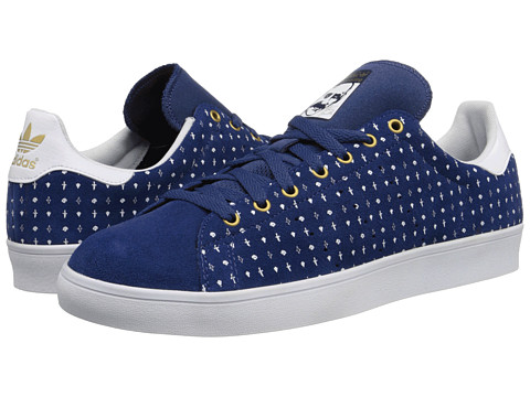 adidas Skateboarding - Stan Smith (Oxford Blue/White/Gold Metallic) Men's Skate Shoes