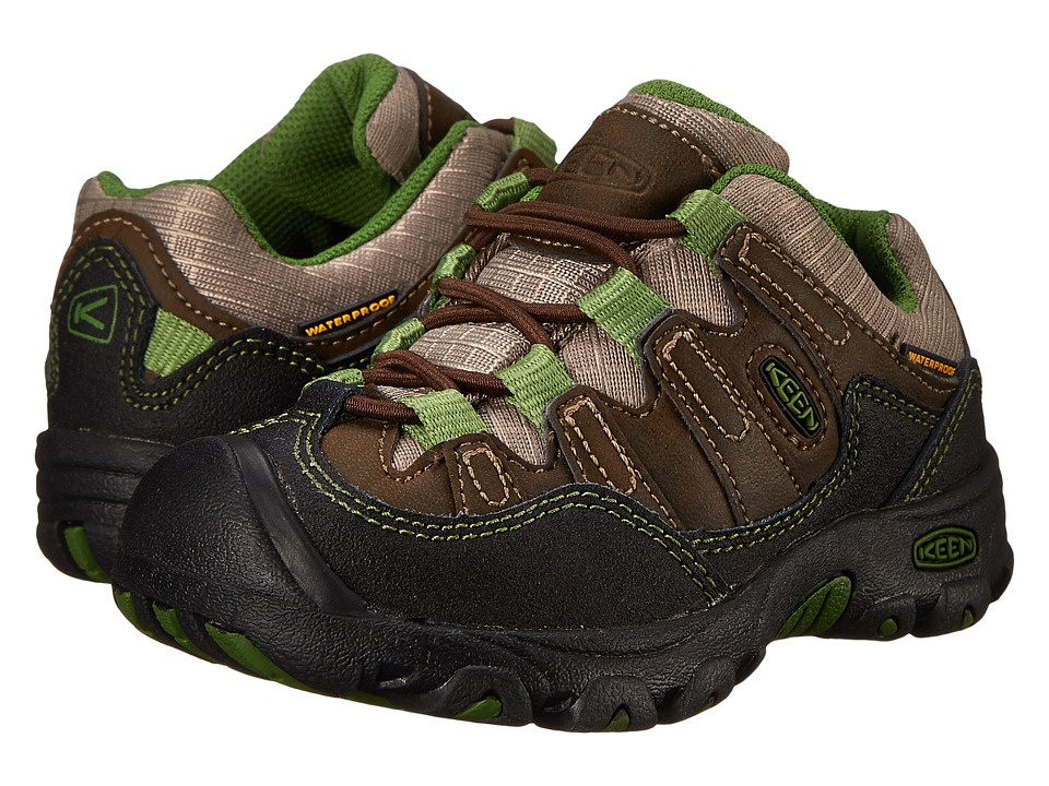 Keen Kids - Pagosa Low WP (Toddler/Little Kid) (Cascade Brown/Treetop) Boy's Shoes
