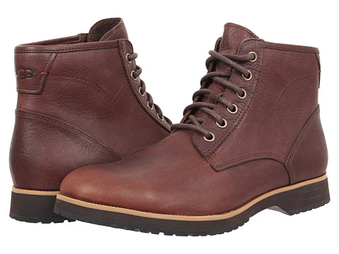 UGG - Moreau (Espresso Leather) Men's Lace-up Boots