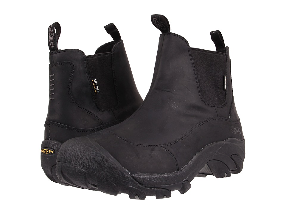 Keen - Anchorage Boot II (Black/Gargoyle) Men's Pull-on Boots
