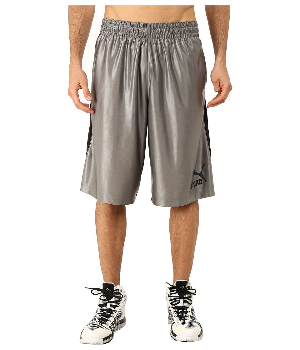 PUMA - 12 Hoops Shorts (Steel Gray/Black) Men