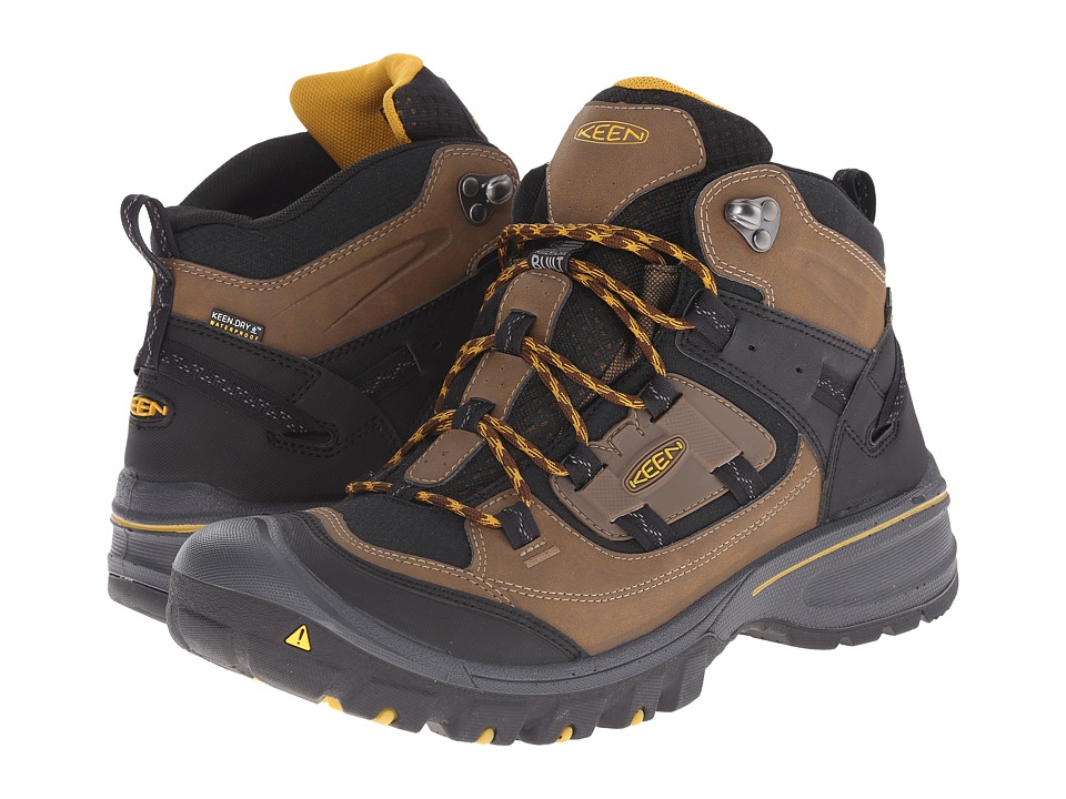 Keen - Logan Mid WP (Dark Earth/Tawny Olive) Men's Hiking Boots