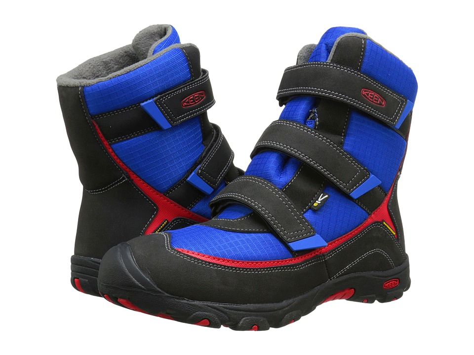 Keen Kids - Trezzo II WP (Little Kid/Big Kid) (Olympian Blue/Racing Red) Boys Shoes
