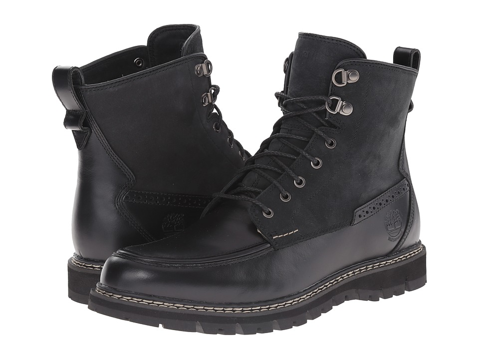 Timberland - Britton Hill Waterproof Moc Toe Boot (Black Quartz/Buttersoft) Men's Waterproof Boots