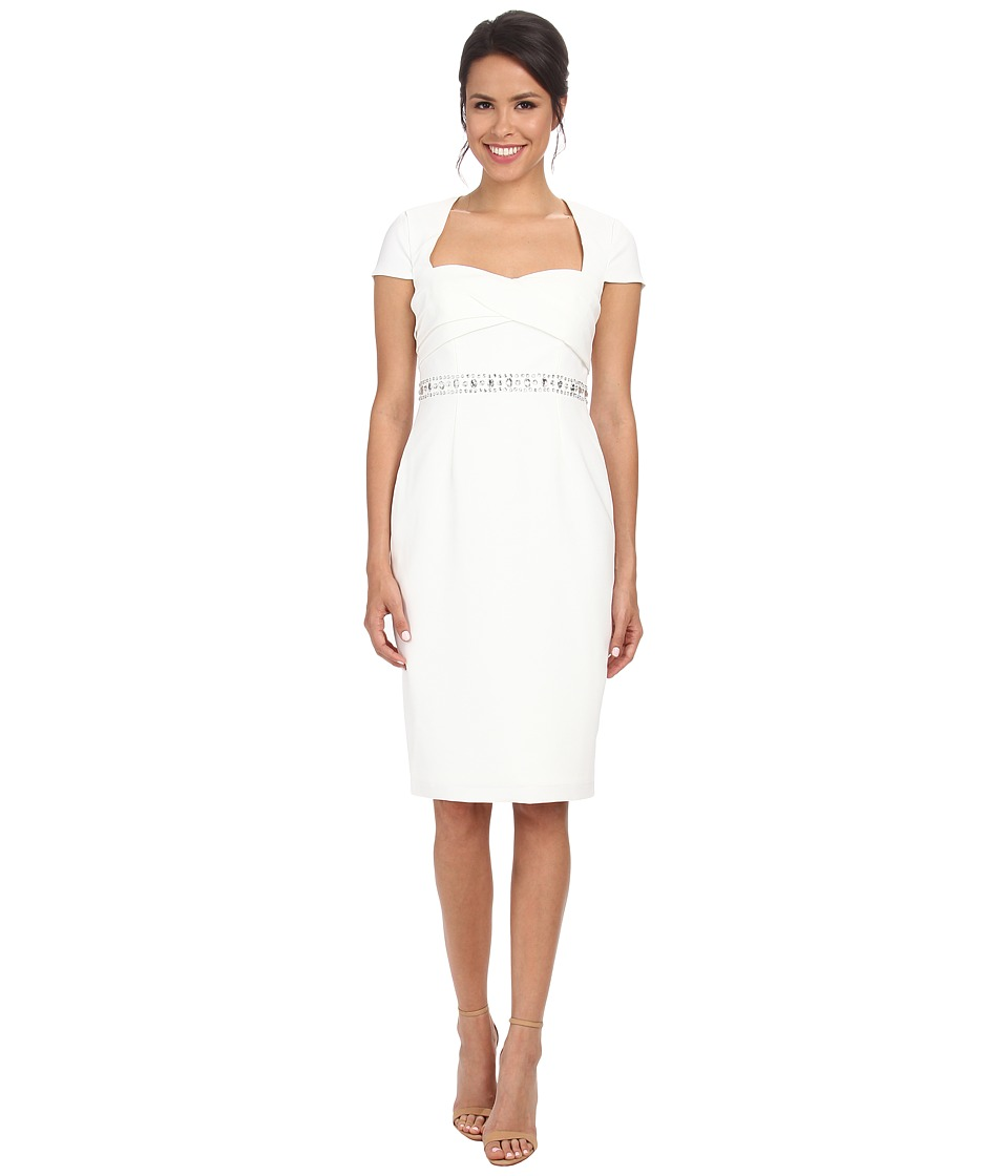 Adrianna Papell - Draped Crepe Back Satin Dress (Ivory) Women's Dress