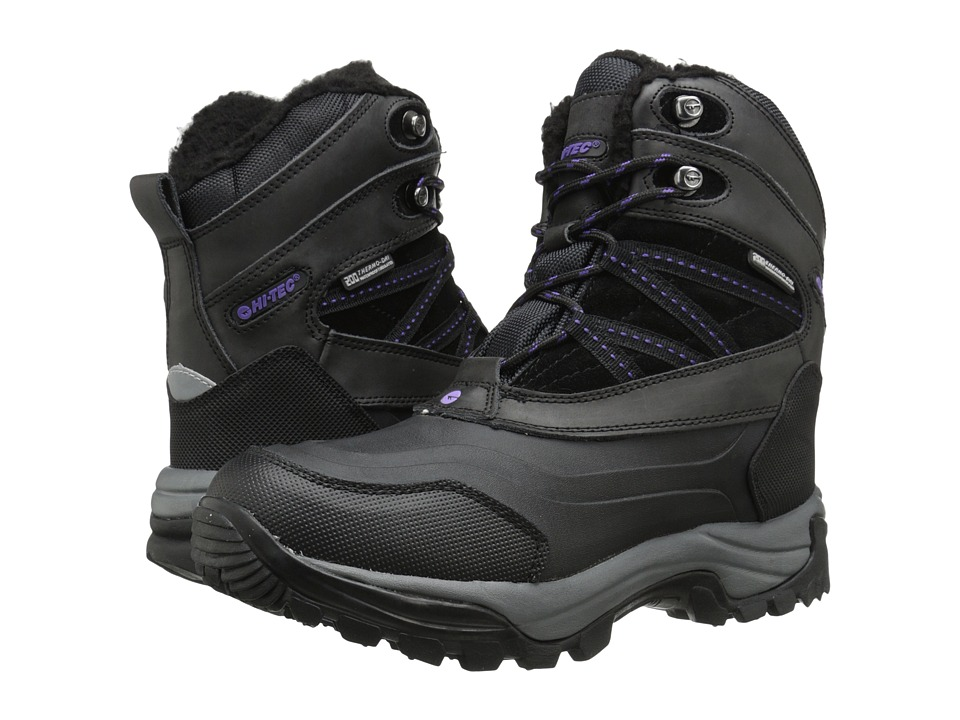 Hi-Tec - Snow Peak 200 WP (Black/Purple) Women's Work Boots