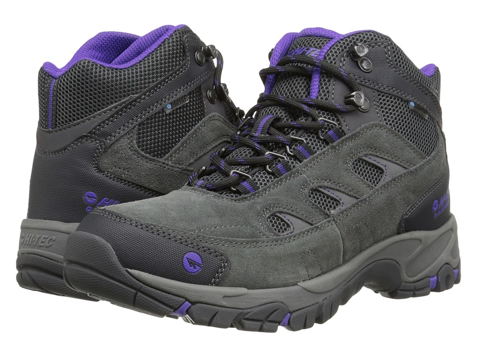 Hi-Tec - Logan Mid WP (Charcoal/Purple) Women's Work Boots