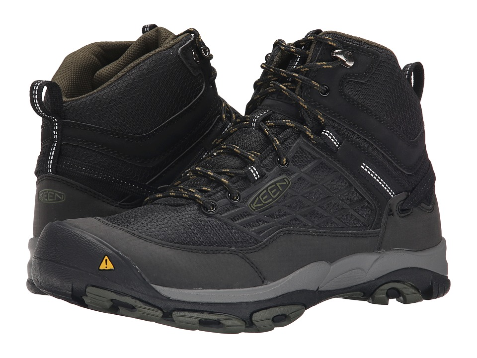 Keen - Saltzman WP Mid (Black/Forest Night) Men's Waterproof Boots