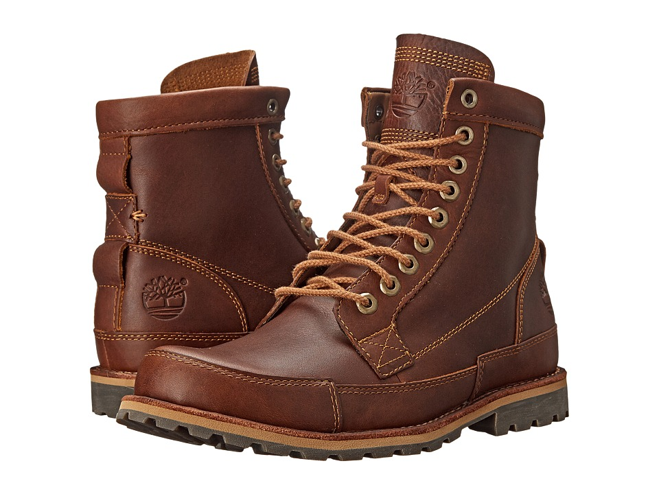 Timberland - Earthkeepers Rugged Original Leather 6 Boot (Tobacco Forty Leather) Men's Lace-up Boots