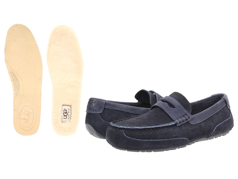 UGG - Tucker (New Navy Leather) Men's Slip on Shoes