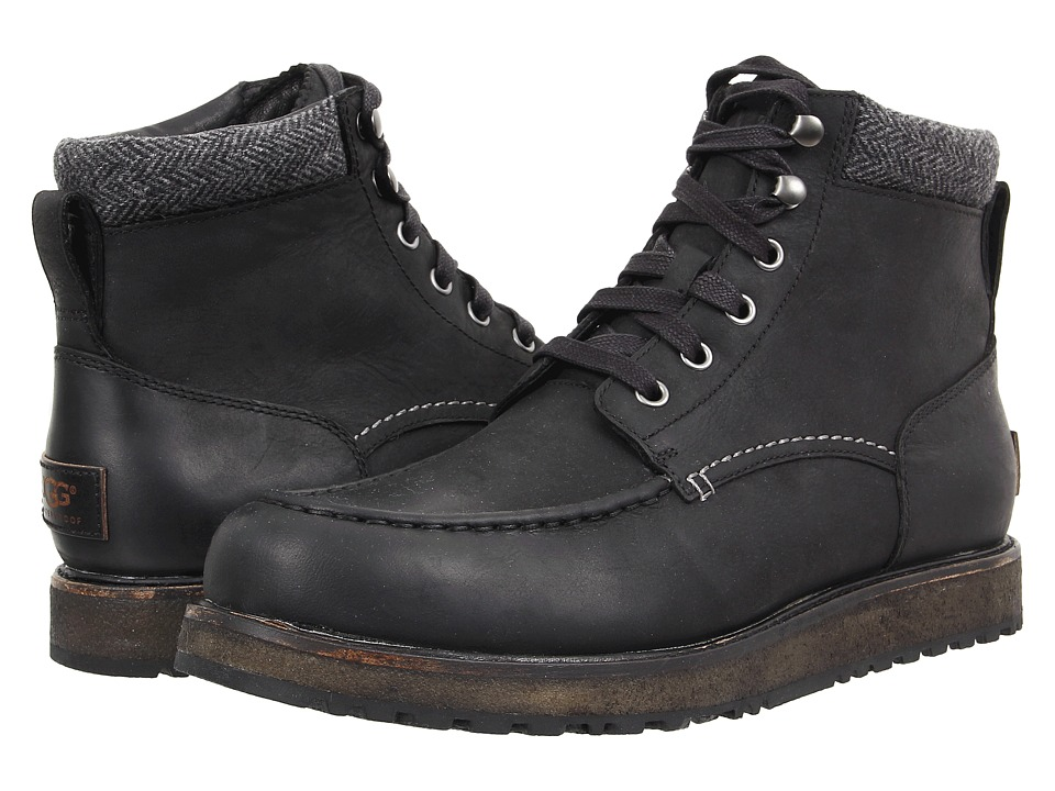 UGG - Merrick (Black Leather) Men's Shoes
