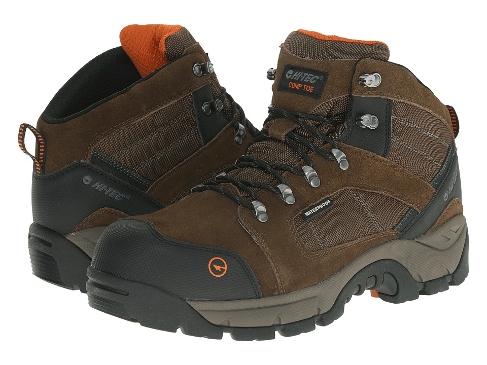 Hi-Tec - Borah Pro Mid I WP CT (Chocolate) Men's Work Boots