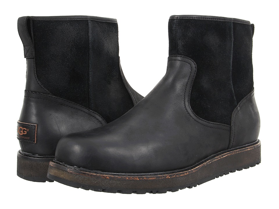UGG - Witmore (Black Leather) Men's Pull-on Boots