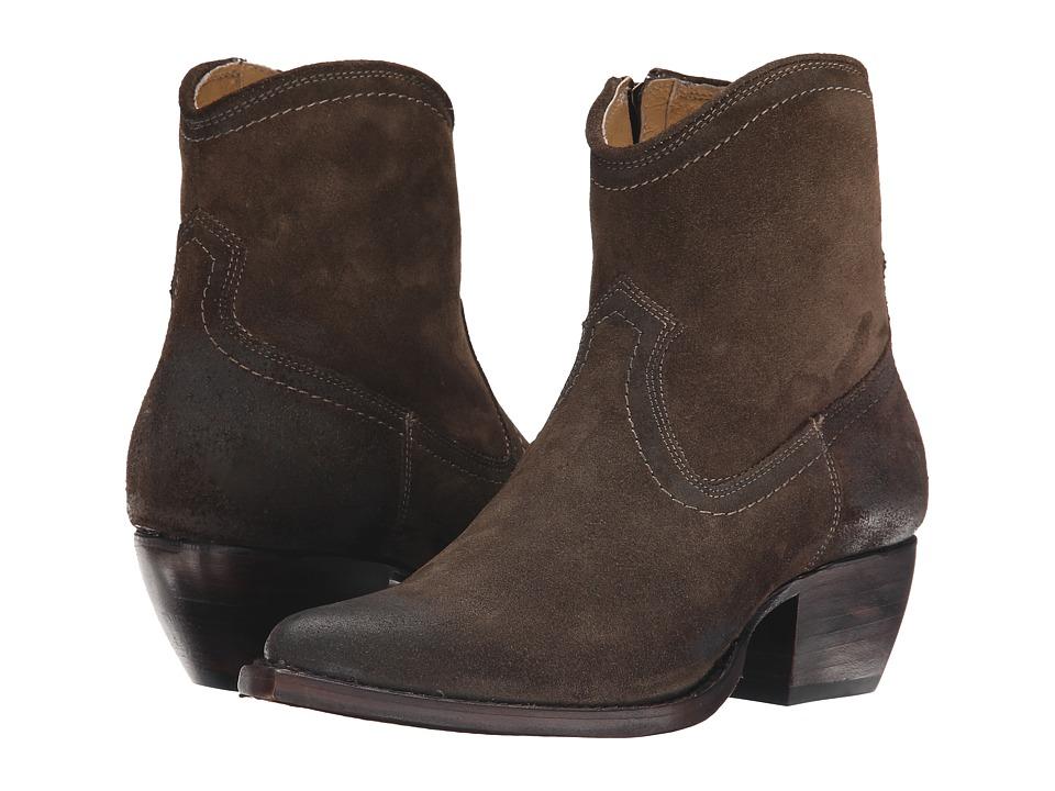 Frye Sacha Short (Fatigue Oiled Suede) Cowboy Boots