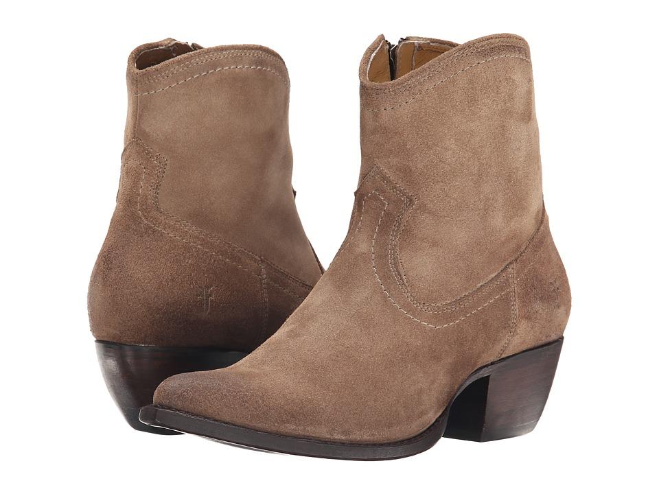 Frye - Sacha Short (Ash Oiled Suede) Cowboy Boots