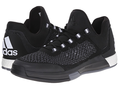 adidas - 2015 Crazylight Boost Primeknit (Core Black/FTWR White/Clear Grey) Men's Classic Shoes