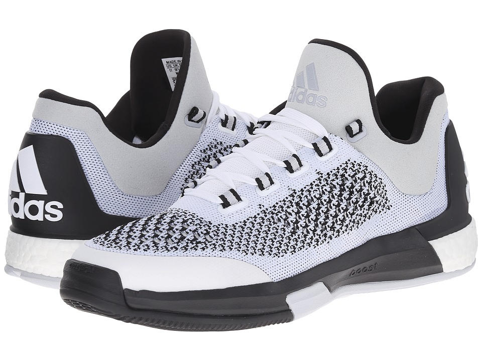 adidas - 2015 Crazylight Boost Primeknit (FTWR White/Core Black/Clear Grey S12) Men's Classic Shoes