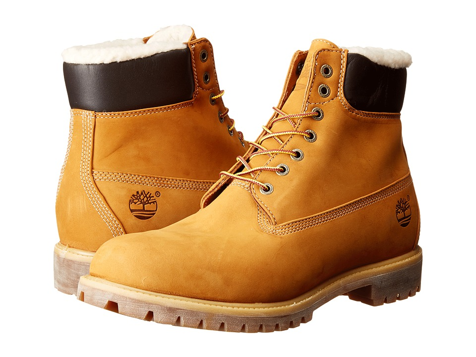 Timberland - Timberland Heritage 6 Warm Lined (Wheat Nubuck) Men's Lace-up Boots